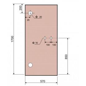 Puerta de Cristal Color Bronce para Saunas Astralpool