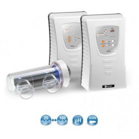Clorador Salino Serie Tecno de Idegis DT-7PH, con control de pH integrado 7g/h,piscina hasta 25 m2