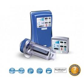 Clorador Salino IDEGIS DOM-32PH Domotic 32g. cloro/h + PH y bomba dosificadora BR.06.40. Hasta 120m3